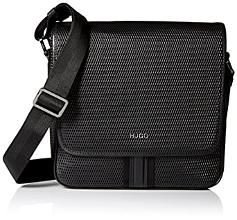 Amazon.com: HUGO Hugo Boss Men's Future Flap Reporter Bag, Black ...