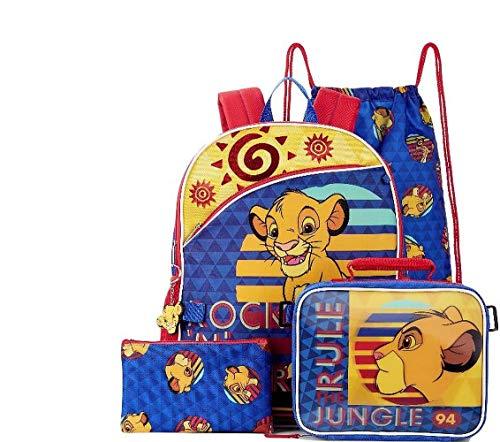 Fastforward Kids School Backpack Lion King 5 Pc Set with Lunch Bag
