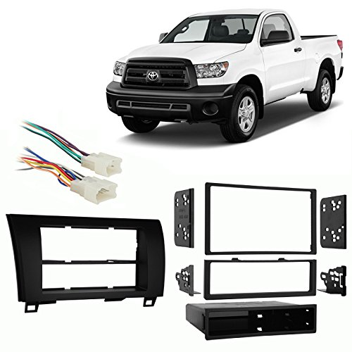 Fits Toyota Tundra 2007-2013 Single/Double DIN Car Harness Radio Dash Kit - Tundra Single