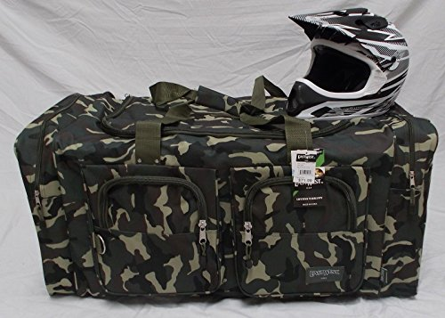 Wingsmarketshop Deluxe Snowmobile XL Motorcycle Atv Gear Bag Motocross Off Road Dirt Bike GREEN CAMO NEW!