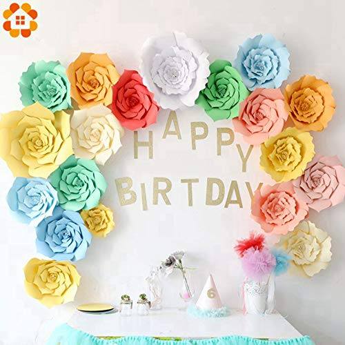 Kids Birthday Parties Decorations 85th Birthday 2PCS/Bag 20CM Paper Flowers Backdrop Decor Home Garden Wedding Kids Birthday Hen Party Decoration Baby Shower Supplies (Random)
