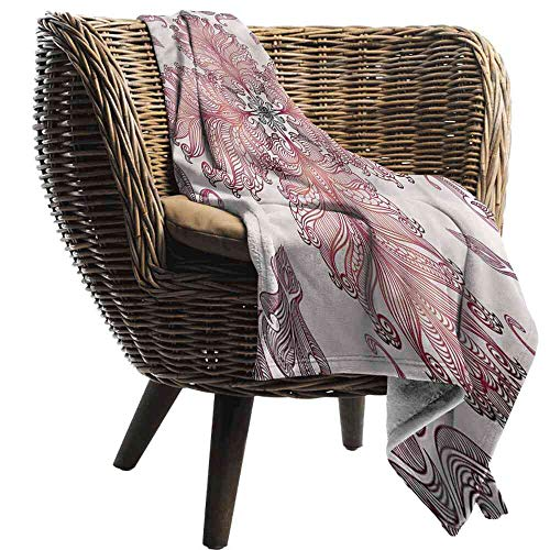 """ZSUO Blanket Vintage,Baroque Inspired Floral Minky Baby Blanket Size:60""""x70"""""""