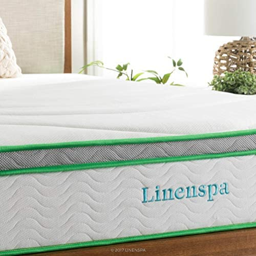 home, kitchen, furniture, bedroom furniture, mattresses, box springs,  mattresses 3 image LINENSPA 10 Inch Latex Hybrid Mattress - Supportive - Responsive in USA