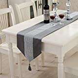 Table-cloth table runner table cloth simple modern mat studded fashion atmosphere tablecloth luxurious , gray , runner =32*250cm