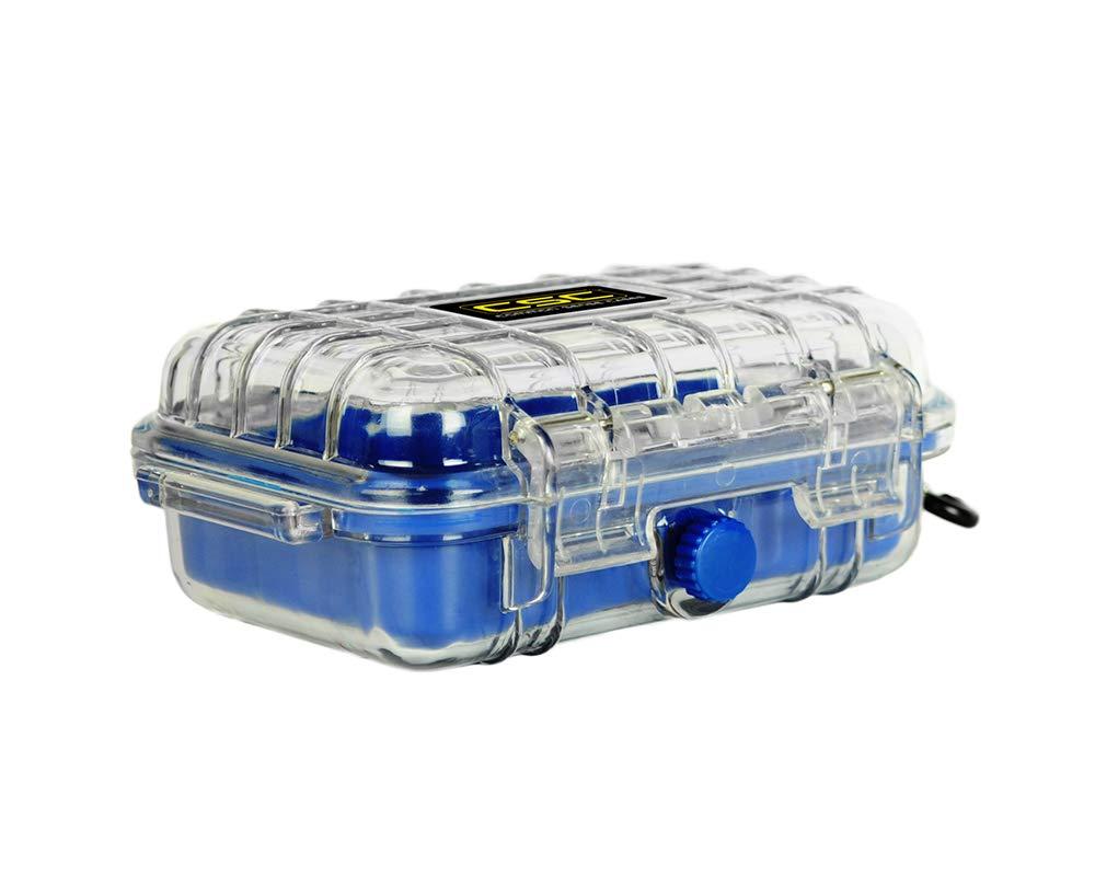 Common Sense Cases 2001 Polycarbonate Micro Case - Weather Resistant - Blue - Internal Dimensions: 4'' x 2.5'' x 1.5''