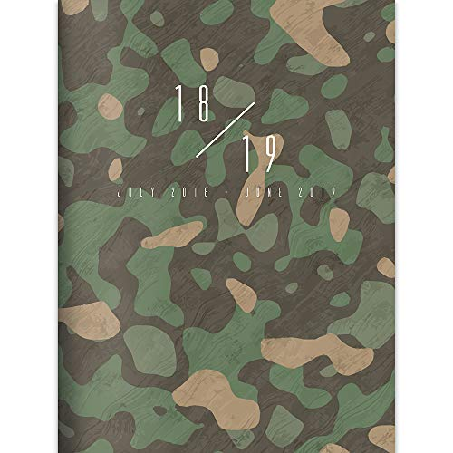 TF Publishing 19-4265A July 2018 - June 2019 Camo Monthly Planner, 7.5 x 10.25