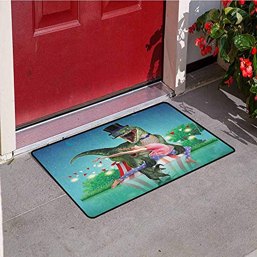 Gloria Johnson Modern Universal Door mat Scary Dinasor in
