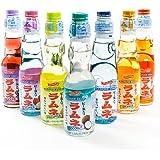 Shirakiku Ramune Carbonated Soft Drink Soda 200 ml. - Strawberry (200 ml)