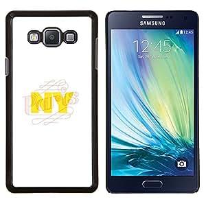 Stuss Case / Funda Carcasa protectora - NYC New York City Amarillo Blanco - Samsung Galaxy A7 ( A7000 )
