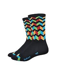 """DeFeet Aireator Jitterbug Socks, 6""""/Medium, Black"""