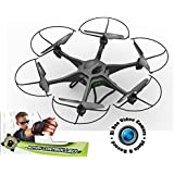 Force Flyers Motion Control 19in 6 Rotor Hexdrone w/HR Camera and 4gb SD Card