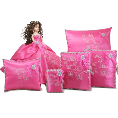 Quinceanera Mis Quince Doll Photo Album Guest Book Kneeling Tiara Pillow Bible Q1035 Add Arch