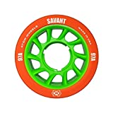 Atom Savant Skate Wheels with Bionic Bearings 8mm Full Set of 8 Orange 97A