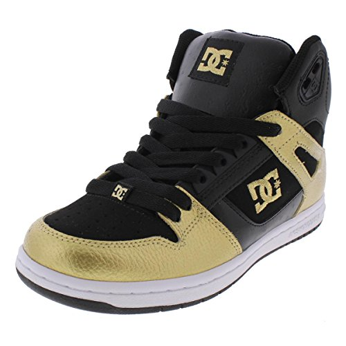 DC Womens Rebound High Hightop Skateboarding Shoes Gold 8 Medium (B,M)