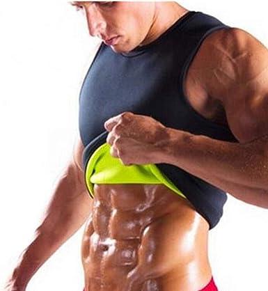 CRZJ Herren Neopren Tank Top Schlankheitsweste Hot Shaper Gym Muskel /Ärmelloses Hemd Herren K/örper Sauna Schwei/ß Thermal Sport Weste Schwitzen Fettverbrennung Bdomin Bodybuilding