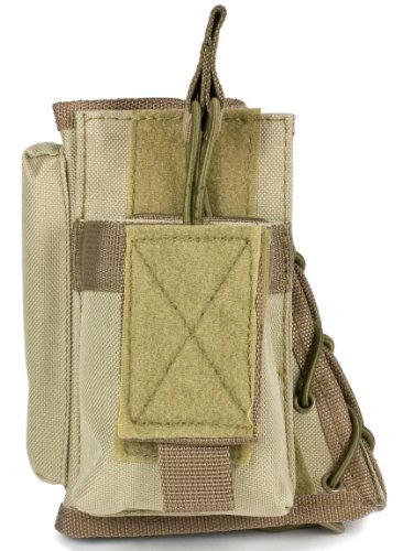 VISM by NcStar Stock Riser with Mag Pouch, Tan