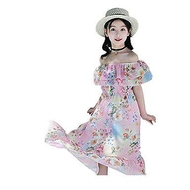 Chanjywe Dia de Miembro Vestido Vintage Estampado de Niñas Años 50 ...