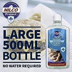 Nilco Hand Sanitiser Antibacterial Hand Sanitising Gel 500ml x 6 (6 Bottles)