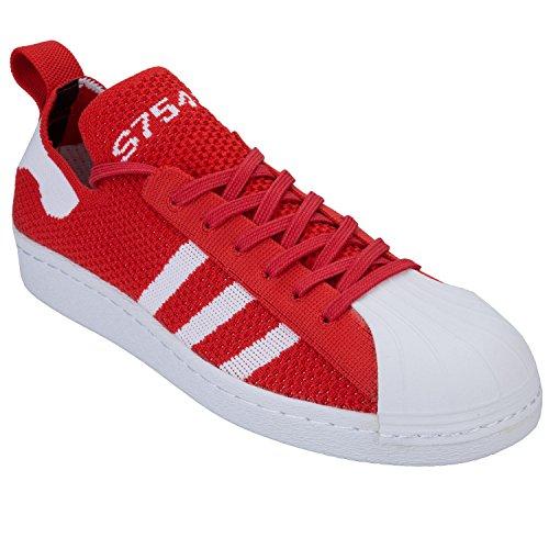 Adidas Originali Da Donna Superstar Degli Anni 80 Scarpe Da Ginnastica Rosse