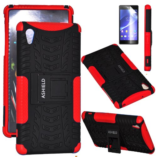 ASHIELD Sony Xperia Z2 Case - ShieldBox PRO Series Full-body Rugged Hybrid Protective Case Cover with Kickstand +Screen Protector , Dual Layer Design/Impact Resistant Bumper Prime