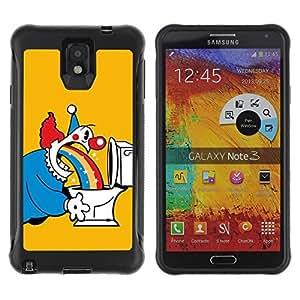 Hybrid Anti-Shock Defend Case for Samsung Galaxy Note 3 / Clowns & Rainbows