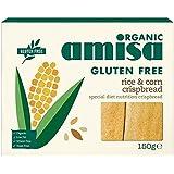 Amisa有機グルテンフリーの米&コーンクリスプブレッドの150グラム (x 2) - Amisa Organic Gluten Free Rice & Corn Crispbread 150g (Pack of 2) [並行輸入品]