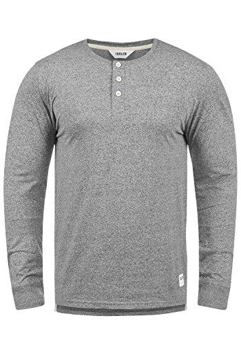 Melange Longues Espen solid Coton Homme T 100 Pour shirt Manches Grey À Tunisien 8236 CUCnRxw7q