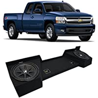 Fits 2007-2013 Chevy Silverado Ext Cab Truck Kicker Comp C10 Dual 10 Sub Box Enclosure - Final 2 Ohm