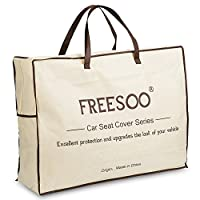 Car Seat Cover Cushions PU Leather, FREESOO Front Rear Full Set Car Seat Covers for 5 Seats Vehicle Suitable for Year Round Use