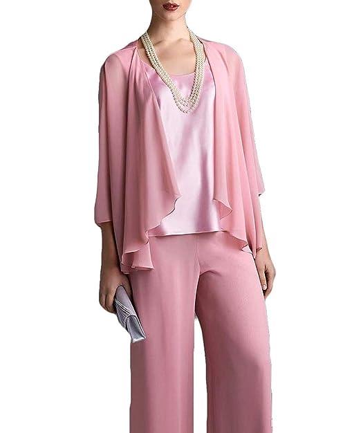 Amazon.com: Vestido para mujer, 3 piezas, elegante, de gasa ...