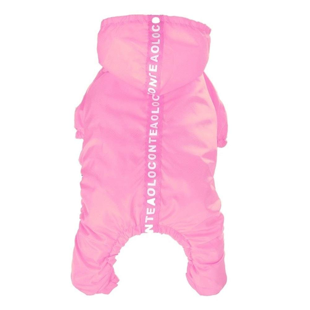 LovelyPet Dog Raincoat Waterproof Hooded Dog Clothes Rain Coat Cloak for Small Large Puppy Pet Rainy Jacket with Caps (Color : Pink, Size : XL)