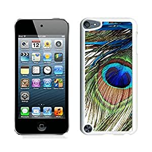 iPod Touch 5 Case ,Unique And Fashionable Designed Case With Peacock Feather White For iPod Touch 5 Phone Case