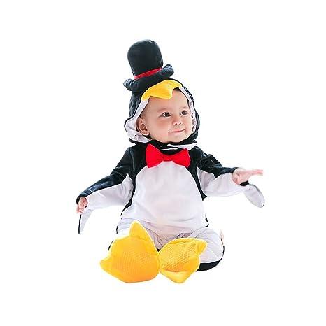 Disfraces Bebe Invierno,Unisexo Pingüino Traje de Mameluco ...
