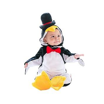Disfraces Bebe Invierno,Unisexo Pingüino Traje de Mameluco Bebés ...