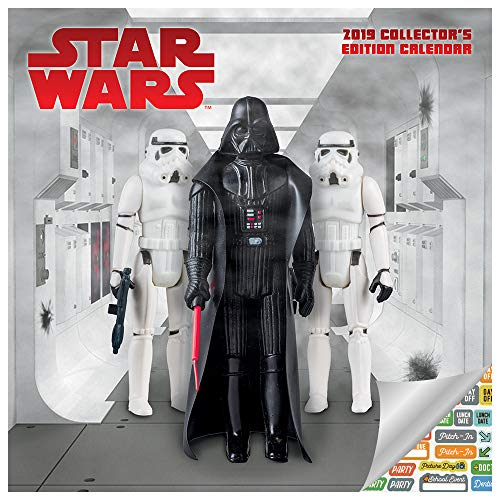 Star Wars Calendar 2019 Set - Deluxe 2019 Star Wars Collector's Edition Calendar with Over 100 Calendar Stickers (Star Wars Gifts, Office Supplies)