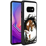 Paint Pinto Horse Phone Case for Samsung Galaxy S10e, Slim Soft TPU and Hard PC Tire Shockproof Protective Phone Cover Case for Samsung Galaxy S10e