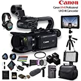 Canon XA40 Professional UHD 4K Camcorder (3666C002) W/ 2 Extra Battery, Soft Padded Bag, 64GB Memory Card, Filter Kit, LED Light, Sony Headphones, 4K Monitor, Sony Mic and More Advanced W/Mic Bundle