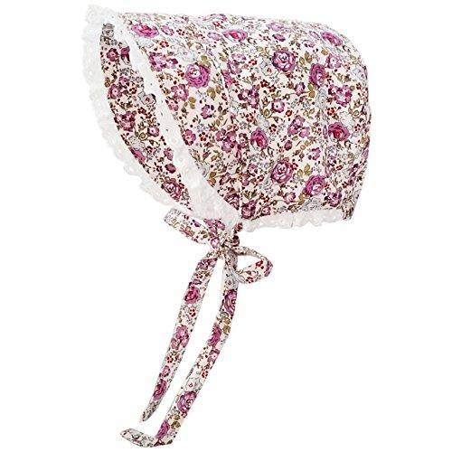 Huggalugs Baby & Toddler Girls Violet Flowers Bonnet UPF 25+ 12-18