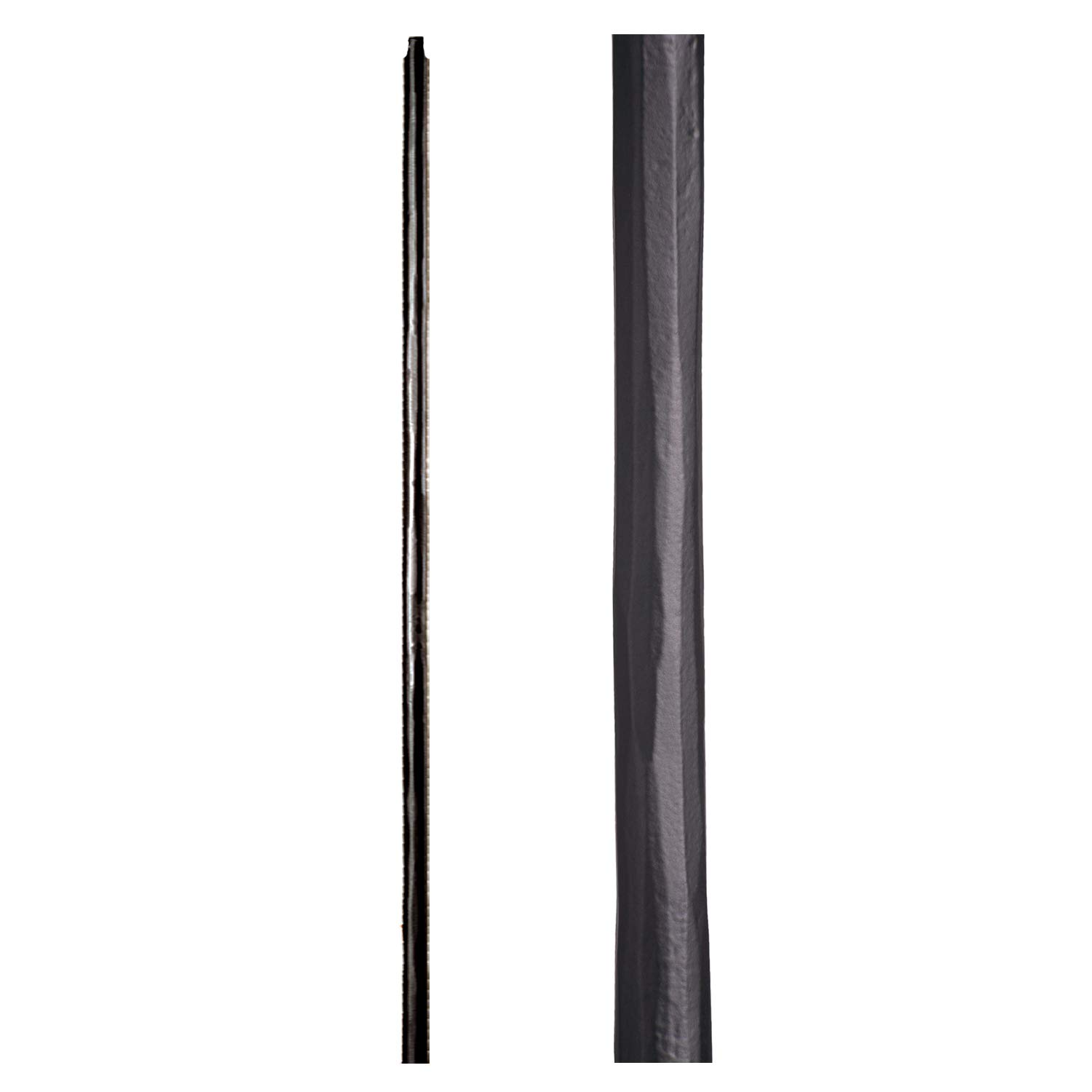 Satin Black 1.1.22 Plain Round Iron Newel Support Post for Stair Remodeling by House of Forgings