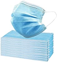 Disposable Face Masks - 50 PCS - For Home & Office - 3-Ply Breathable & Comfortable Filter Saf