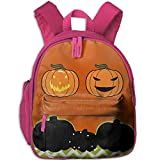 Ugift Cute Print Vector Set of Halloween Pumpkin 2-6 Kids Shoulders Bag Preschool Gift Prize Schoolbag