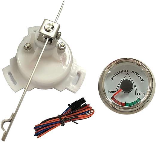 2/'/' 52mm Marine Rudder Angle Gauge Meter /& Sensor 812-00051 Red Pointer