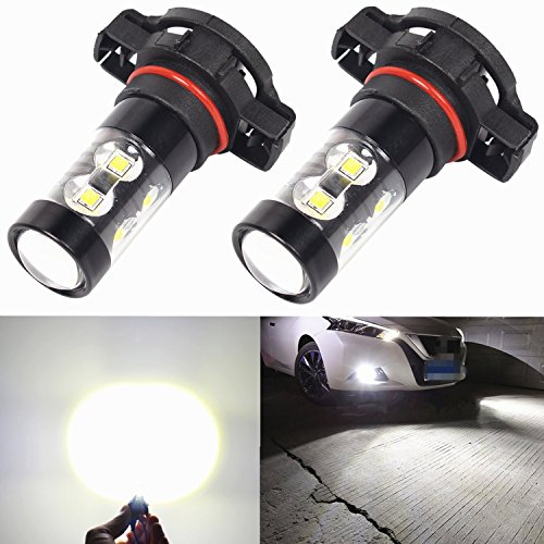 Alla Lighting Extremely Super Bright High Power 50W CREE 5202 H16 Type 1 White LED Lights Bulbs for Fog Light Lamps Replacement (Ford Lighting Fog Lights compare prices)