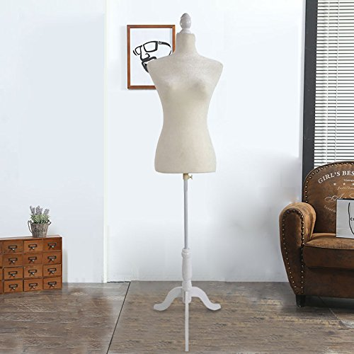 Bonnlo Female Adjustable Fiber Glass Mannequin Torso Women