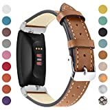Kartice Compatible Fitbit Inspire Bands/Fitbit Inspire HR Band,Adjustable Classic Leather Replacement Accessories Bands for Fitbit Inspire/Inspire HR Fitness Tracker.