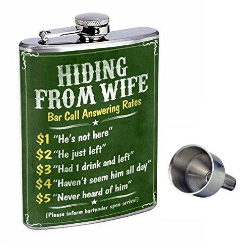 激安特価 Perfection Inスタイル8オンスステンレススチールWhiskey Flask with Free with d-018 Funnel B017GKWTZK d-018 Hidingから妻バー電話料金 B017GKWTZK, クールヴェール:29b05827 --- preocuparse.me