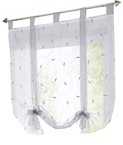 HomeyHo Tie Up Curtains Kitchen Curtains For Bedroom Sheer Curtains Fabric  Window Coverings Curtains Sheer Curtain