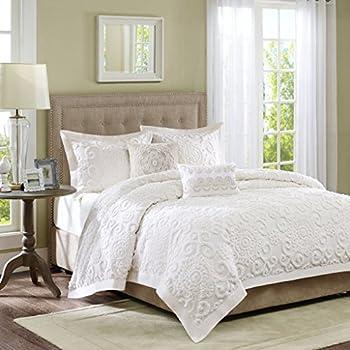 Finest Amazon.com: Sabrina 4 Piece Comforter Set White Full/Queen: Home  XI19