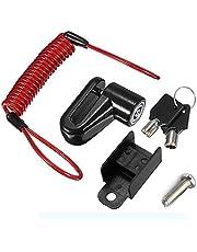 قفل سلك فولاذي مضاد للسرقة لـهاتف تشاومي ميجيا برو M365 / M365 قرص فرامل كهربائي مزود بخزانة عجلات (اسود)