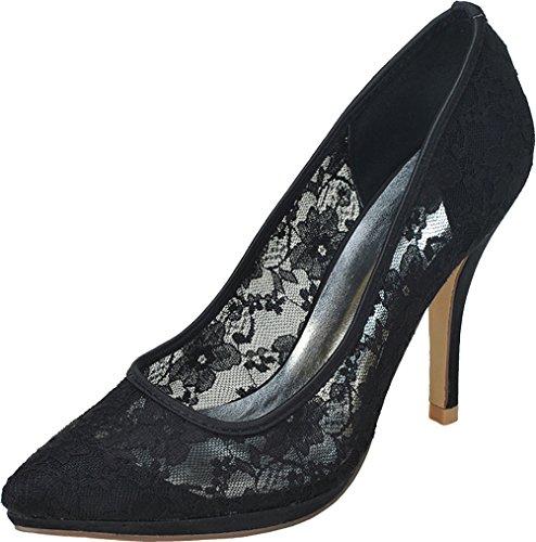 Noir 5 Compensées Femme Nice Noir EU Sandales Find 36 7FAw17